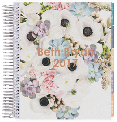Erin Condren In Bloom pattern