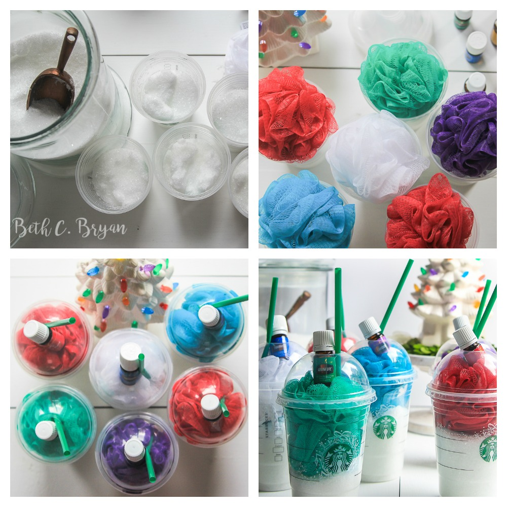 We saw these at the Young Living Silver Retreat in Utah last month and thought they were the cutest (and easiest) things ever. So, today I'm showing you how to make them foryour teacher / housecleaner / mail-lady as an easy Christmasgift idea!