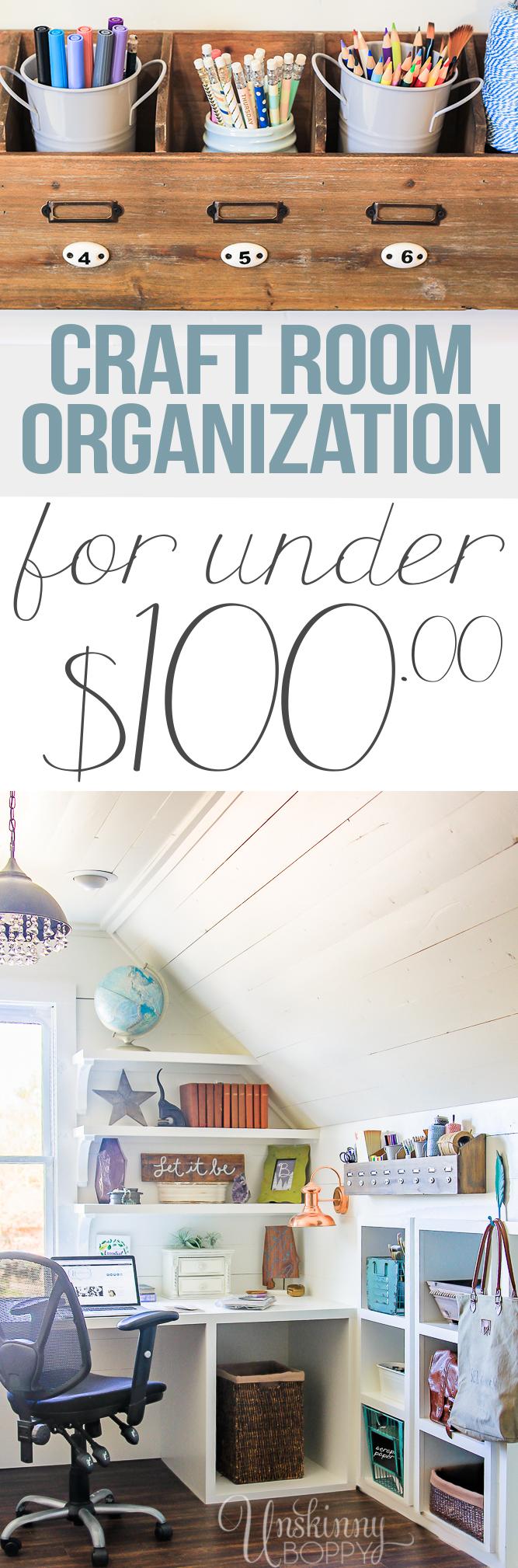 Hobby Lobby Craft Room organization under $100