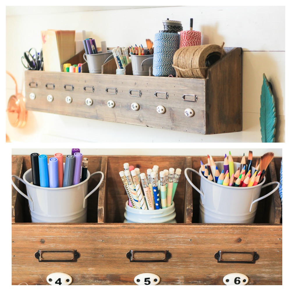 Wooden Divided Organizer