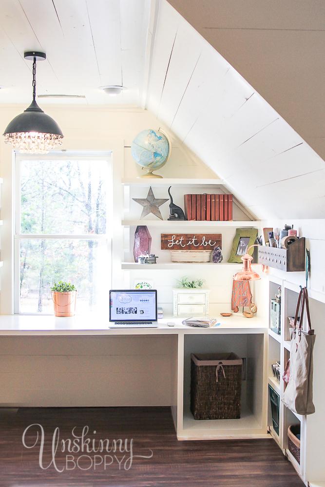 Hobby Lobby desk and craft room organization ideas for under $100! #HobbyLobbyStyle #ad