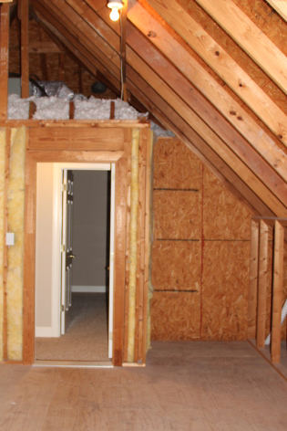 Unfinished attic space