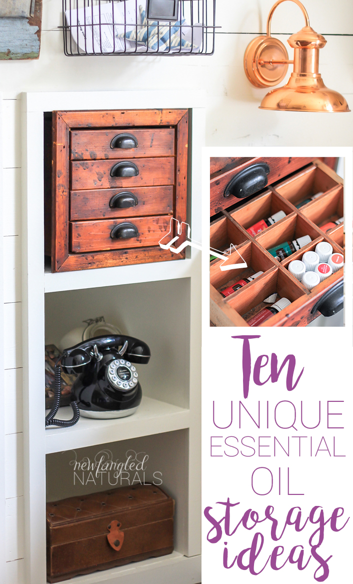 10 unique essential oil storage ideas