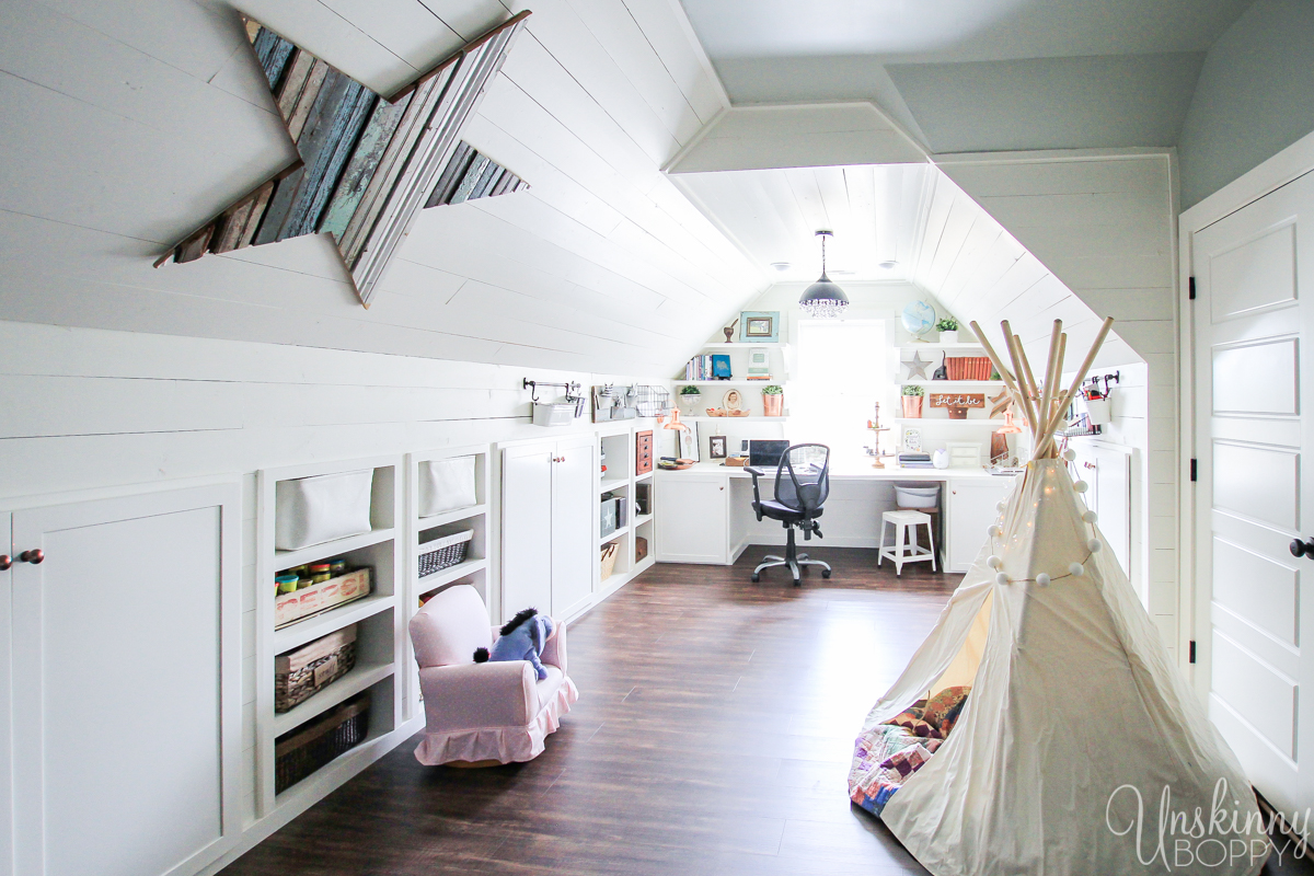 Amazing Attic Playroom - Office-7
