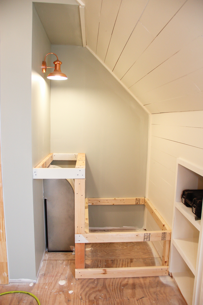 Framing out a laundry chute