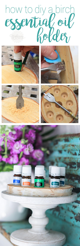 DIY Birch essential oil holder instructions