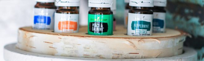 DIY Wood slice essential oil holder