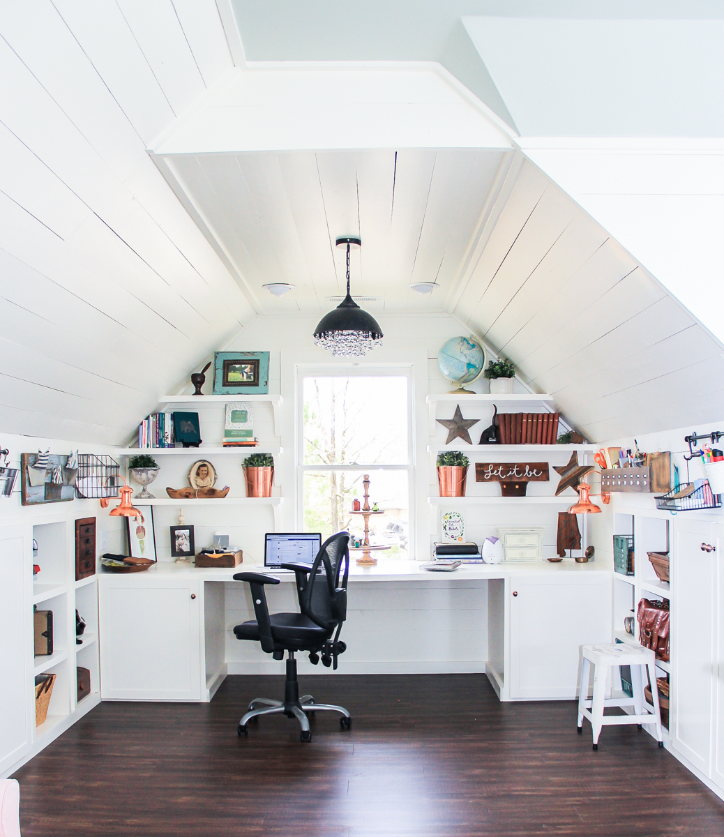 Renovated Attic Playroom- Office-Craft Room by Unskinny Boppy-22