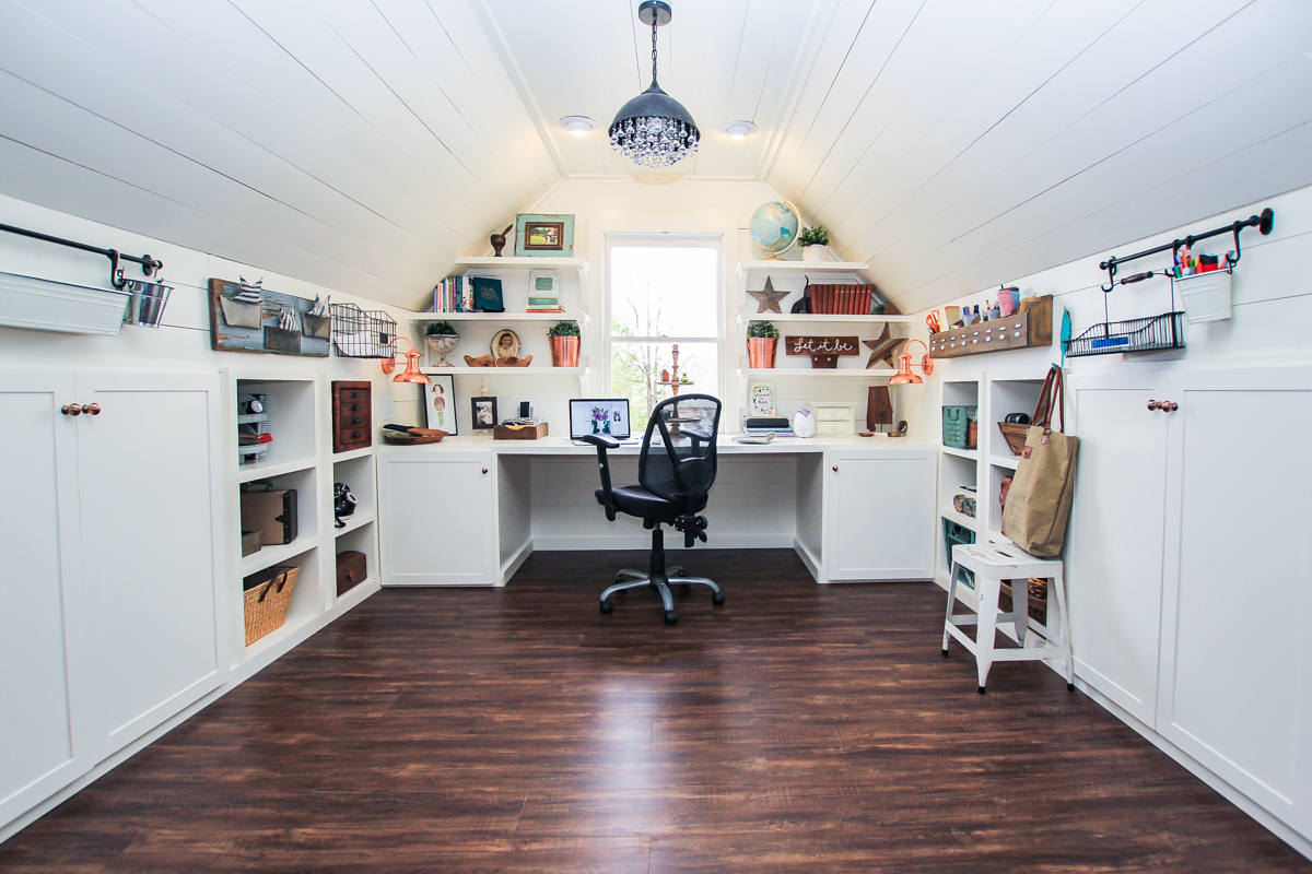 Renovated Attic Playroom- Office-Craft Room by Unskinny Boppy-8