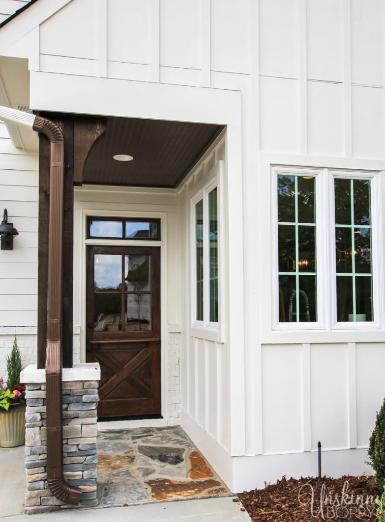 Back door on modern farmhouse