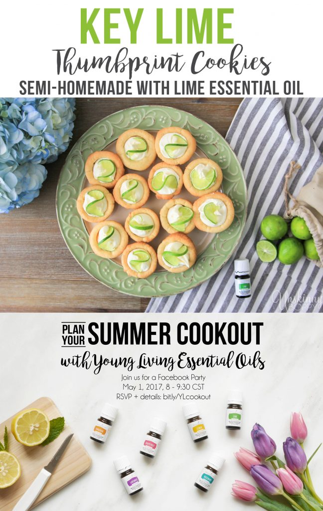 Key Lime Thumbprint Cookes with lime essential oil recipe