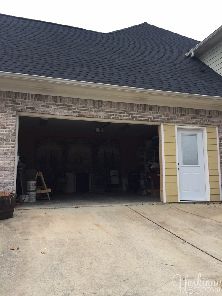 Replacing double garage door with single and exterior door-2