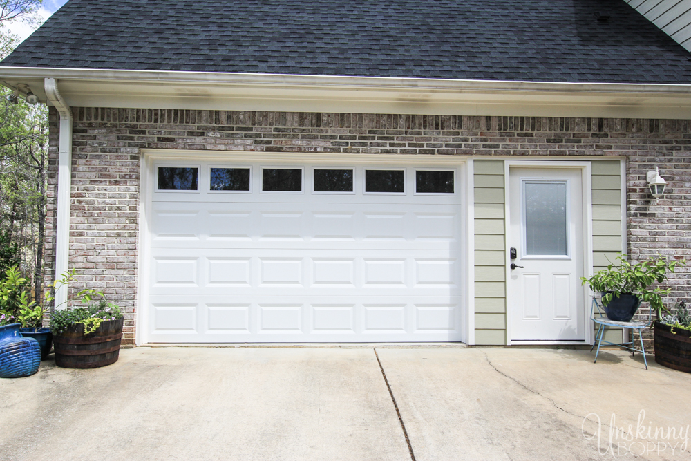 Replacing double garage door with single and exterior door-7