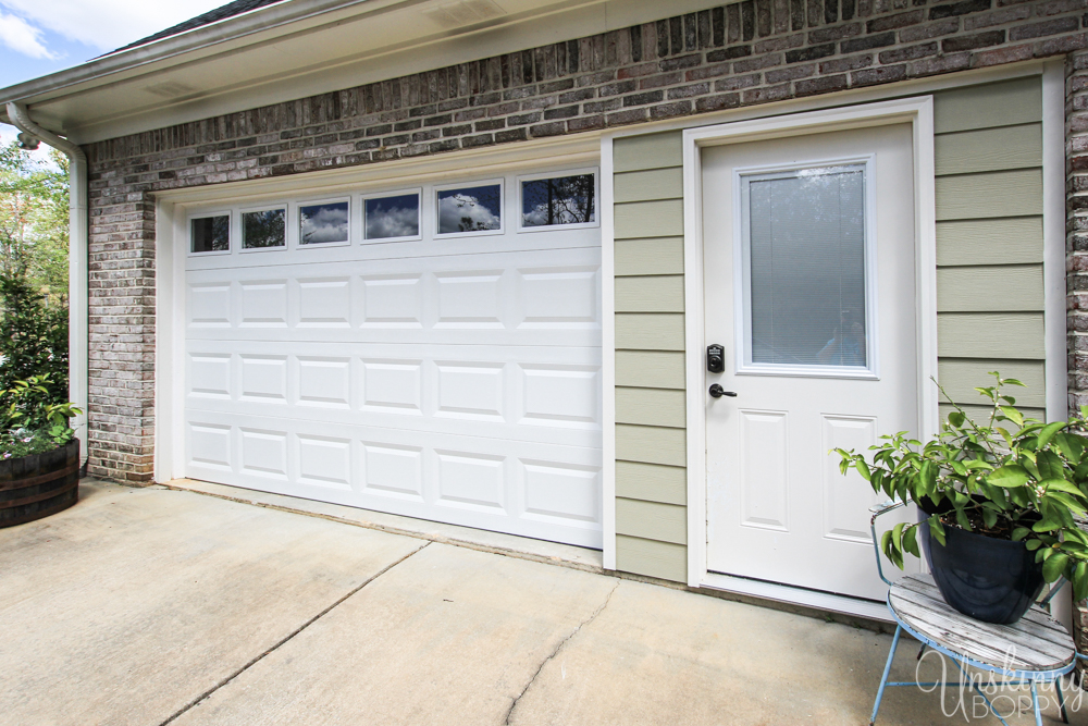 Replacing double garage door with single and exterior door-9
