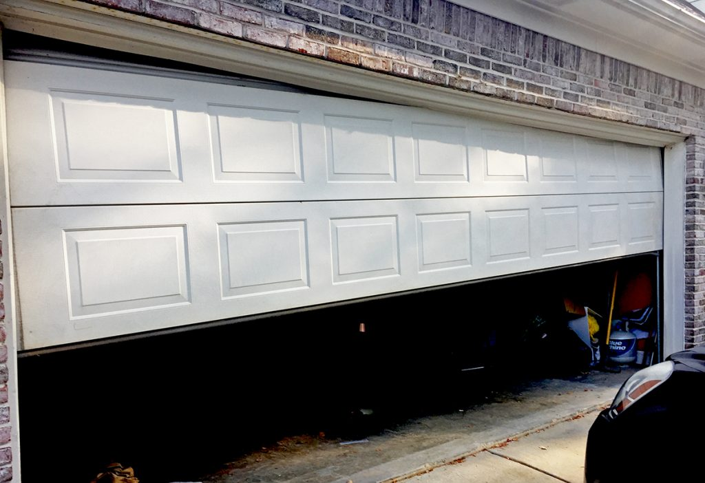 broken down garage door