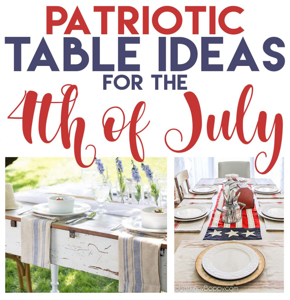Patriotic Table Ideas for the 4th of July