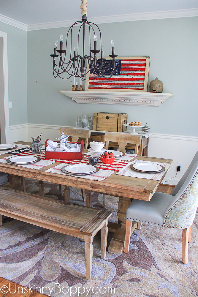 4th of July Patriotic Table Decorating ideas