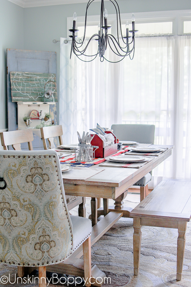 4th of July Table Dining Room Decorating ideas