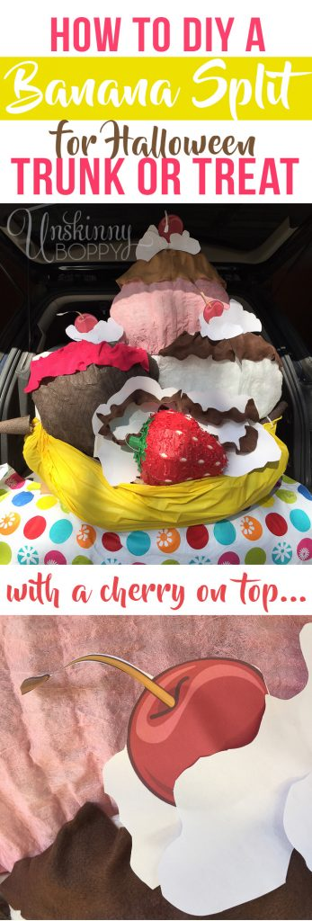 How to make a Banana Split Trunk or Treat