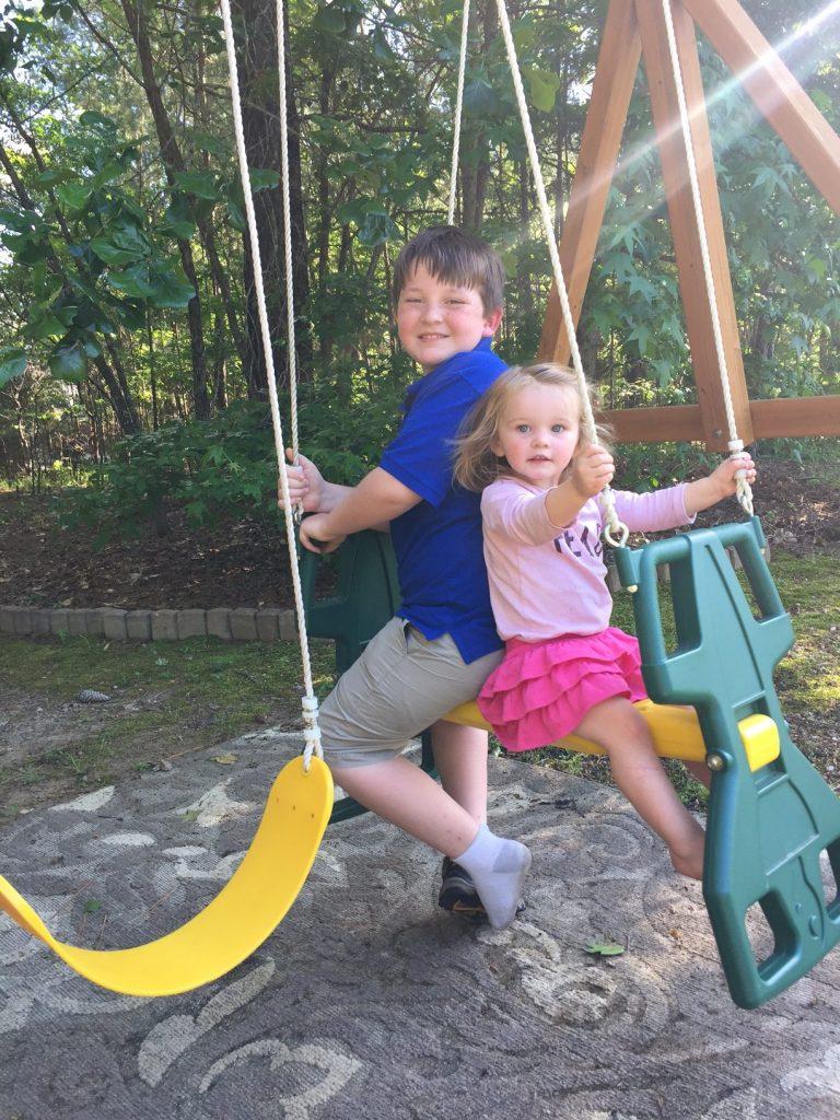 swinging together