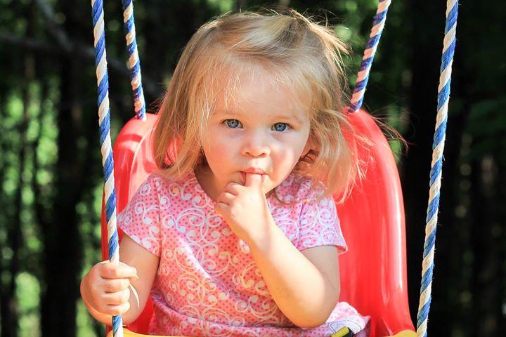 Caroline swinging
