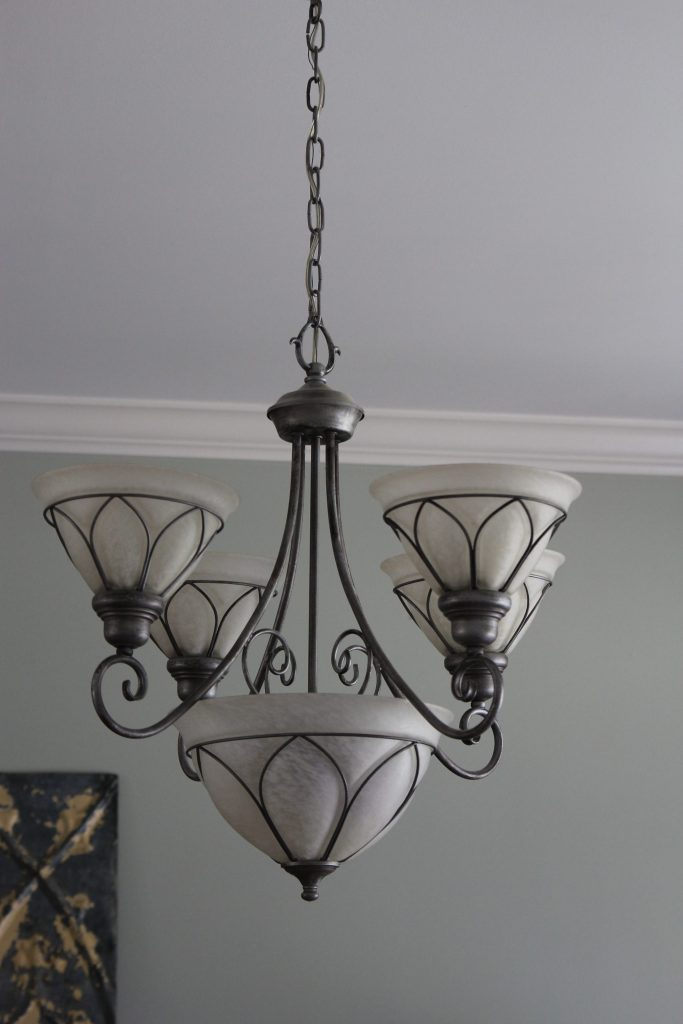 ugly 90's dining room chandelier