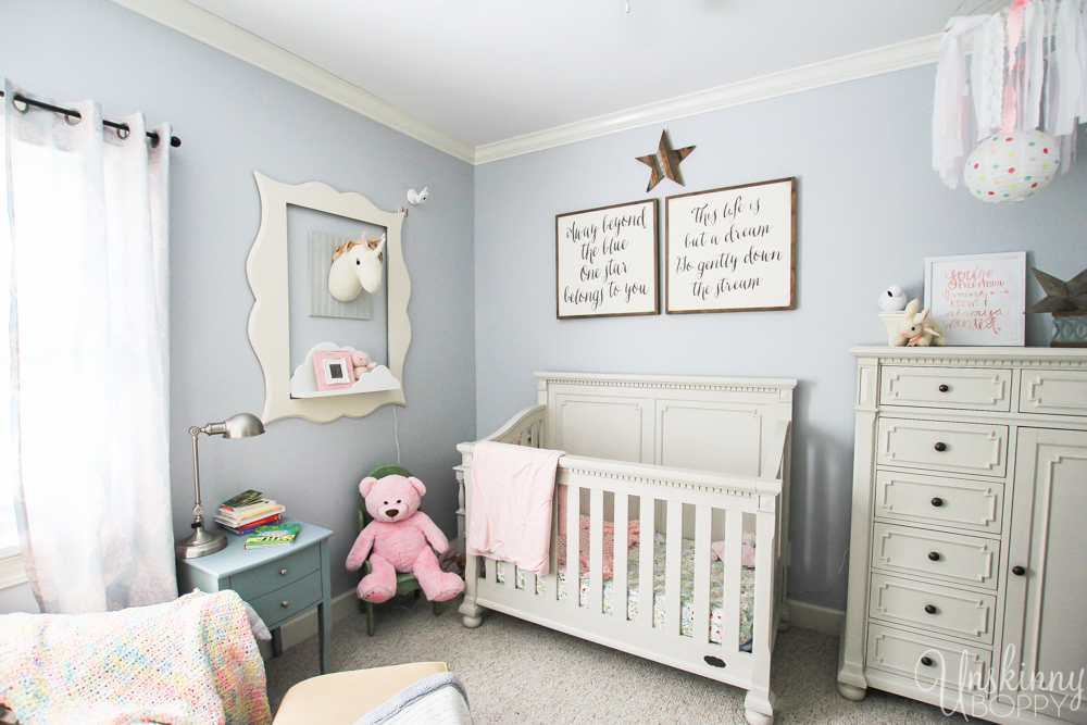 Magical Unicorn Girl's Nursery-5