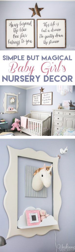 simple but magical girl's nursery