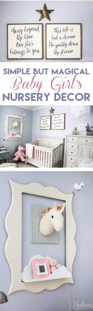 simple but magical girl's nursery