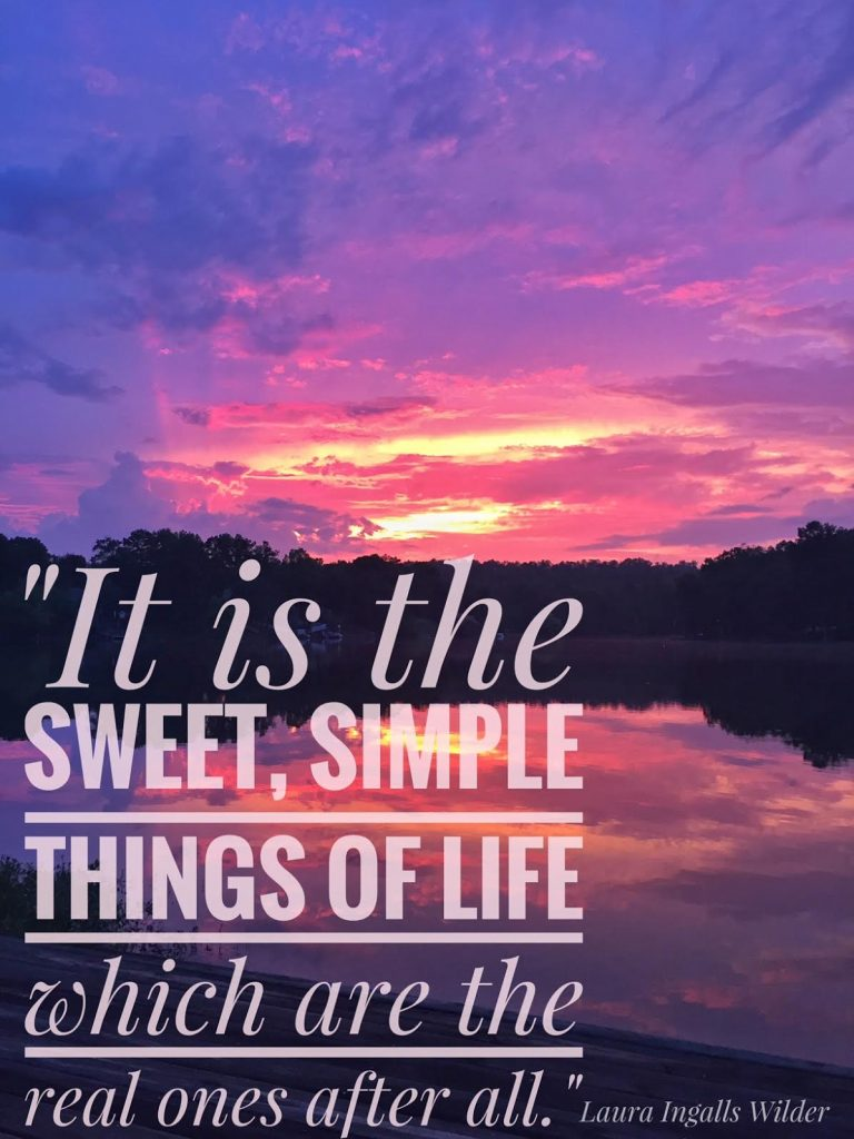 sweet simple life laura ingalls quote
