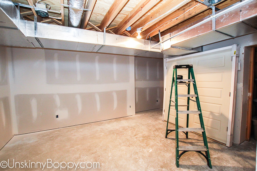 Tales Of Painted Basement Ceilings And, Basement Ductwork Too Low