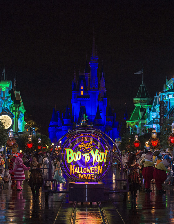 Boo to You Parade at Minnie and Mickey's not-so-spooky Halloween party at Disney World