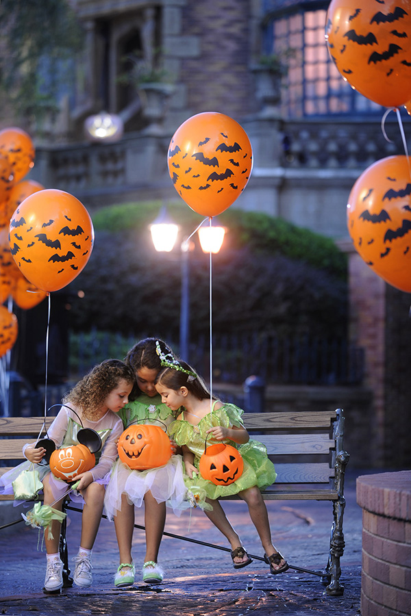 Trick-or-Treating at Minnie and Mickey's not-so-spooky Halloween party at Disney World