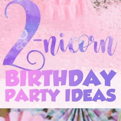 Caroline's TWO-nicorn themed birthday party!