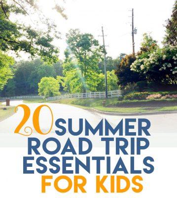20 Summer road trip essentials for kids