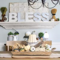 Bless it! Decorating the Dining Room for Fall