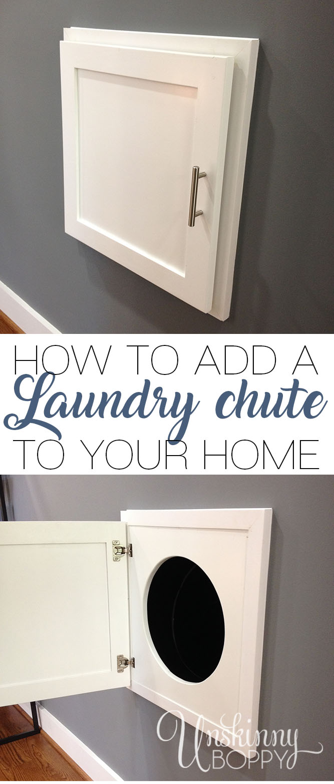 how to add a laundry chute to your home - unskinny boppy