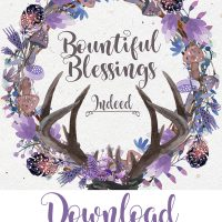 Bountiful Blessings: Free Fall Themed Printable