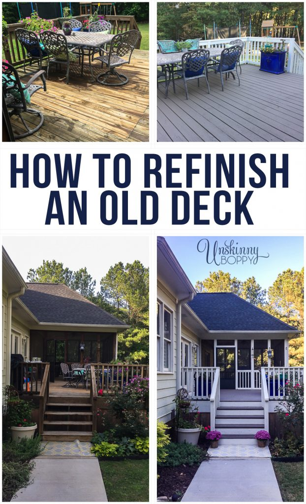 How To Refinish An Old Wooden Deck Unskinny Boppy