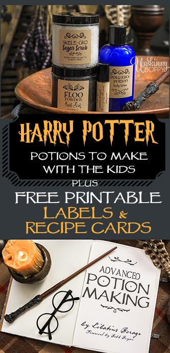 Harry Potter DIY Potion Recipes Unskinny Boppy