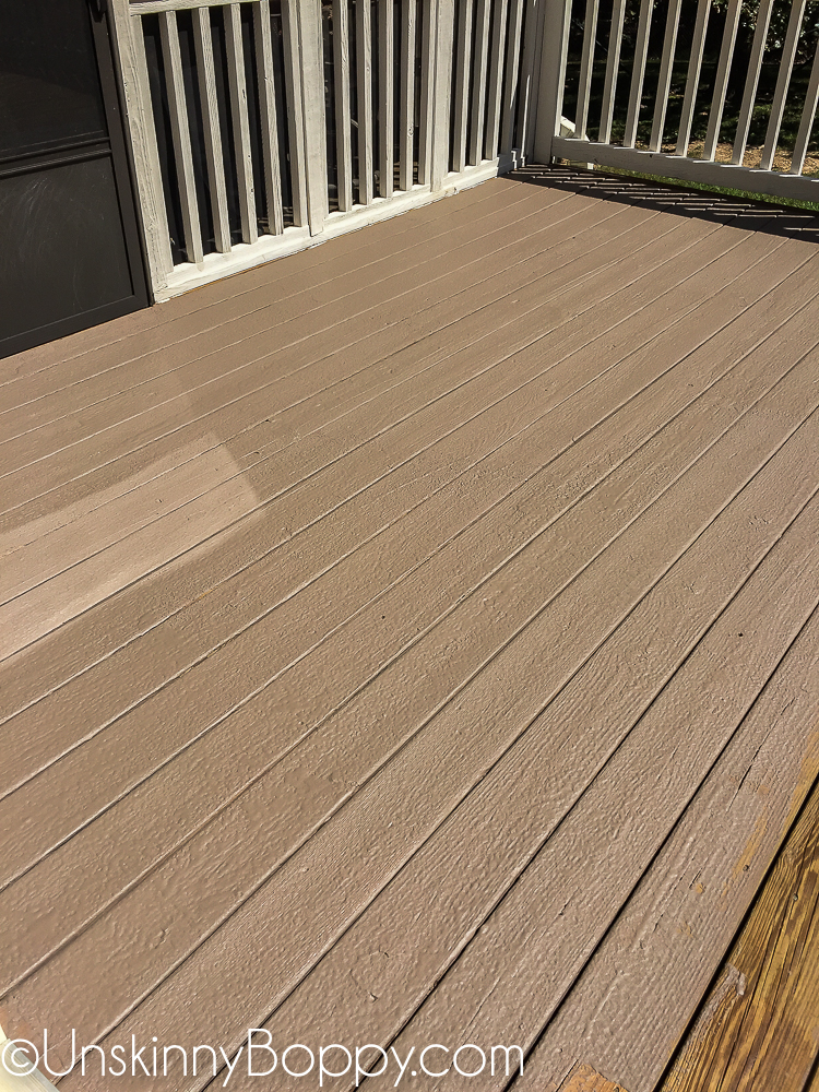 How to refinish an old wooden deck - Unskinny Boppy