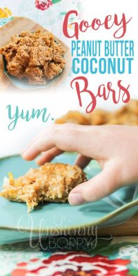 No-bake peanut butter coconut cornflake squares