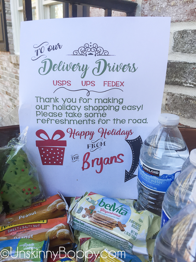 photo regarding You Deserve a Break Printable referred to as Transport Driver Porch Treats Totally free Printable - Unskinny Boppy