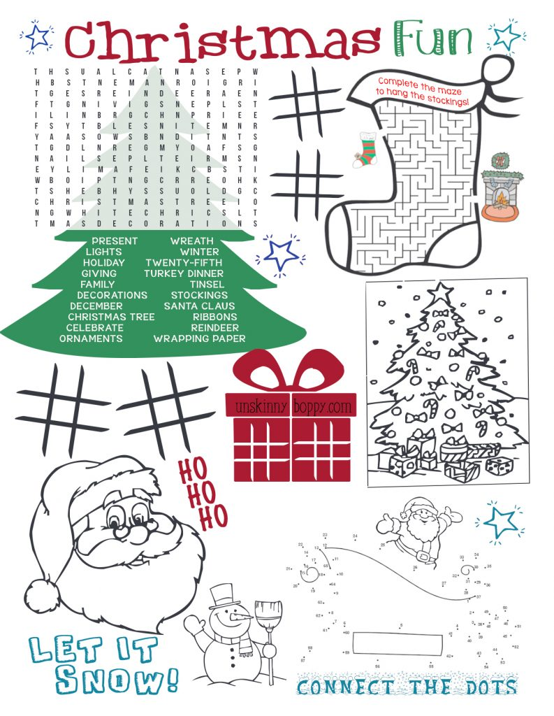 picture regarding Printable Christmas Activities referred to as Xmas Coloring Internet pages for the Little ones Desk (Xmas