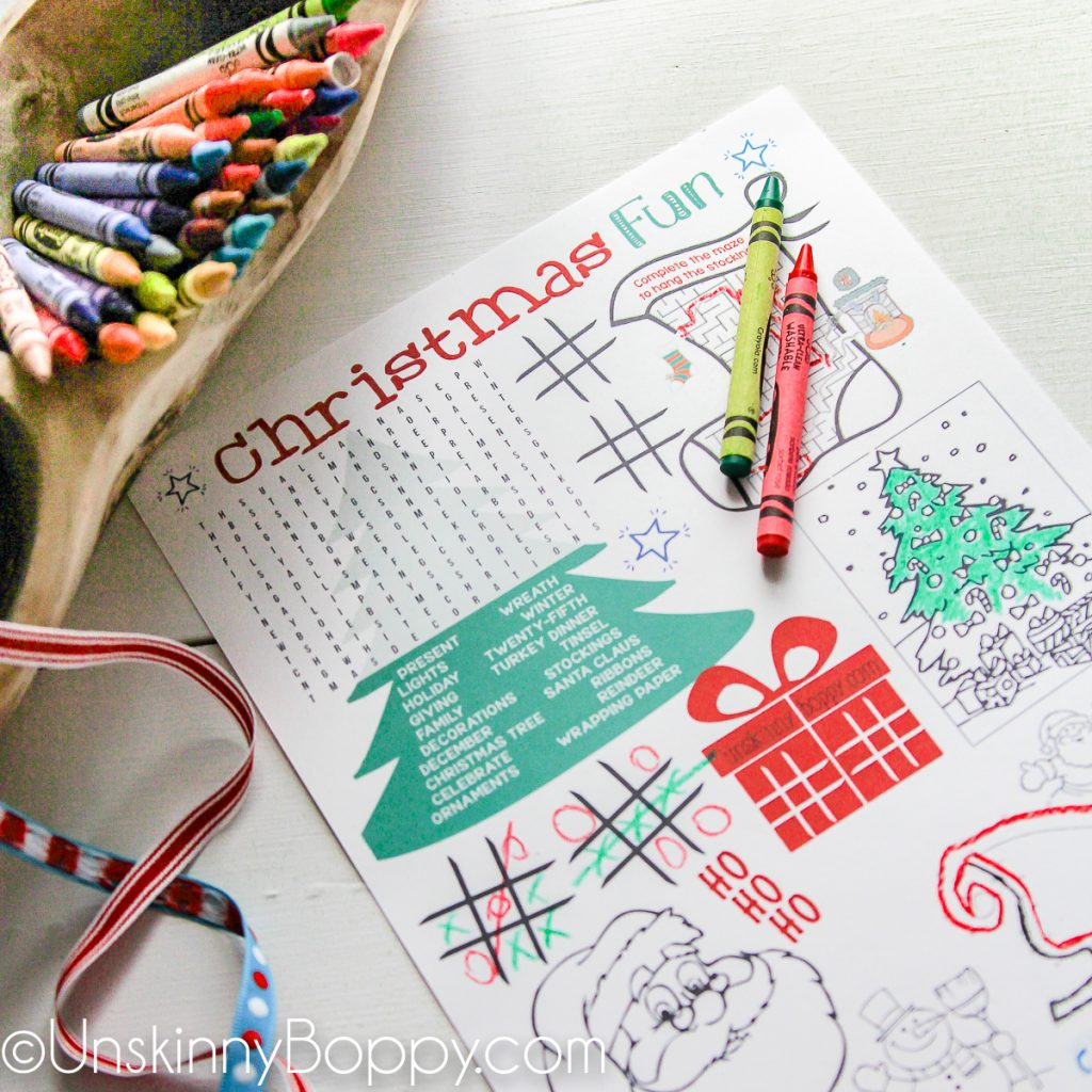 Christmas Coloring Pages for the Kids Table (Christmas Printables ...