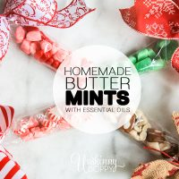 homemade butter mints with essential oils