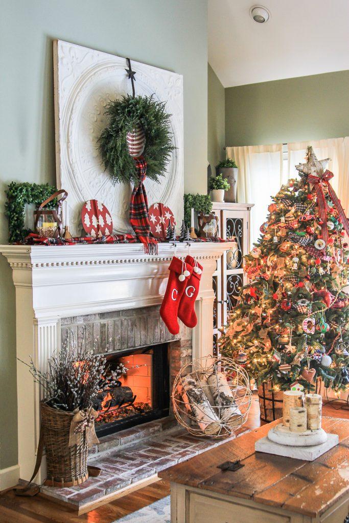 The big 2017 christmas home tour unskinny boppy - Christmas room decor ideas ...