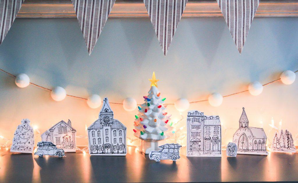 Printable Christmas Village