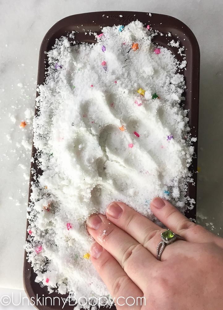 DIY Bath Bombs made with sprinkles