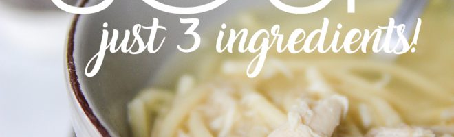 Homemade Chicken Noodle Soup {just 3 ingredients!}